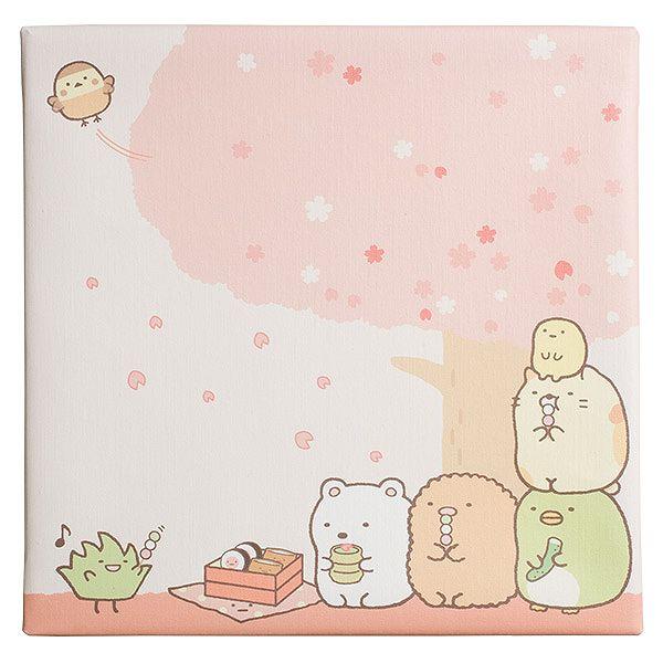 桜の花見をしているすみっこぐらし